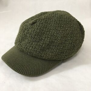 Toddler Newsboy Cap Green Old Navy Knit Hat with Brim Cabbie 2T/3T