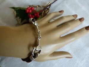 Genuine Leather snaffle bit Equestrian horse lovers  bracelet