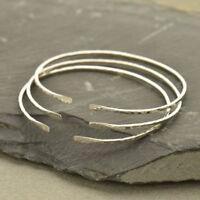 Vintage modern Sterling silver handmade bracelet 925 bangle with hematite 8.25\u201d silver tested