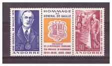 ANDORRE . N°  225 A .    LE  TRIPTYQUE DE GAULLE     NEUF    **. SUPERBE