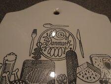 Danish ceramic smorgasbord platter showcasing the best a Danish table will offer