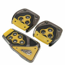 Yellow Universal Manual Non Slip Car Pedals MT Gas Brake Foot Pad Cover Clutch