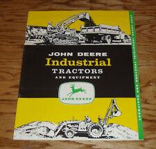 Original 1957 John Deere Industrial Tractor & Equipment Sales Brochure 57