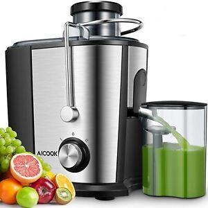 Centrifugeuse Extracteur de Jus Fruits Legumes Sans BPA 2 Vitesse Anti Gouttes