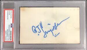 OJ Simpson Signed Index Card NFL Football Autograph Buffalo Bills HOF PSA/DNA