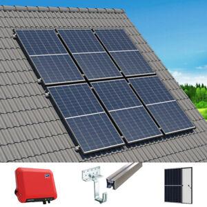 Komplette Solaranlage mit 2,25kWp Eigenverbrauch | 6 Platten & Schrägdachmontage
