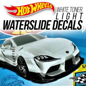 Hot Wheels PANDEM SUPRA GR Head Tail Light WaterSlide Decal 1/64 Scale Custom