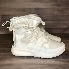 New Nike Womens Tanjun Winter Snow Boots Size 9 AO0355 003 White Cream Off White