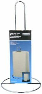 Chrome Free Standing Kitchen Paper Towel Holder Stand Kitchen Roll Storage 28cm