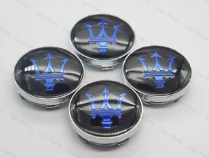 4Pcs 60mm Car  Auto Wheel Center Hub Caps Badge Rim Dust Cover Logo for Maserati