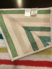 KATE SPADE CANDY STRIPE BATH RUG WHITE GREY PINK TURQUOISE NEW $60