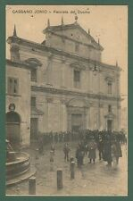 Calabria. CASSANO IONIO, Cosenza. Facciata del Duomo. Cartolina viaggiata 1912