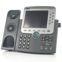 Cisco 7970 CP-7970G 8Line IP VoIP Color Display Touch Screen Office Phone -No AC