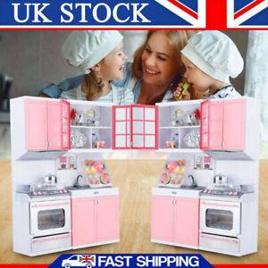 Kids Kitchen Toys Girls Role Play Pretend Cook Set Children's Gift