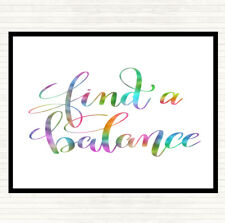 Find A Balance Rainbow Quote Dinner Table Placemat