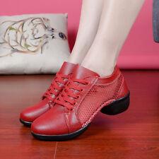 New Women's Summer Dance Sneakers Genuine Leather Modern Salsa Jazz Dance Shoes