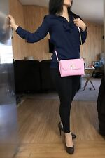 AUTHENTIC MCM MILLA CROSS BODY BAG /CLUTCH PINK