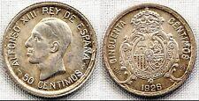 Alfonso XIII. 50 centimos 1926. Madrid. UNC/SC. Plata 2,5 g. Brillo original