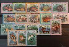 Tuvalu - complete set fish MNH