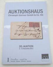 CHRISTOPH GARTNER 2011 GERMAN STAMP AUCTION CATALOG