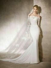 c042NEW White/Ivory Lace Wedding dress veils Custom Size 4 6 8 10 12+++
