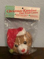 VTG Christmas Knobbles Door Knob Covers- Bear
