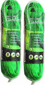 2x Garden Netting Green Anti Bird Protection Net Mesh Protect Seedlings 2m x 10m