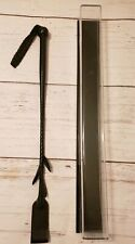 Riding Crop Horse Whip Faux Leather Whip with Display case