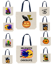 Halloween Trick Or Treat Bags Canvas Durable