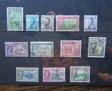 Fiji 1954 - 59 values to 2/6 Used