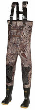 4mm Titanium Duck Blind Camo Hunting Neoprene Wader Lug Boots Size 11 Regular