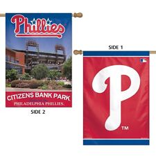 """PHILADELPHIA PHILLIES CITIZENS BANK PARK 28""""X40"""" DOUBLE SIDED BANNER WINCRAFT"""