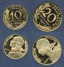 FDC : 10 et 20 centimes Marianne 1995 neuves du coffret BE