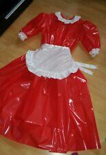 Adult Baby Sissy vestido barniz bondage PVC parodia bávara sirvienta schürtze XL