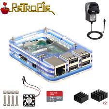 Retropie Raspberry Pi 3 Model B Retro Games Arcade Console 64GB + Controller