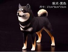 Solid PVC Black Shiba Inu dog Figurine Model Figure 17cm