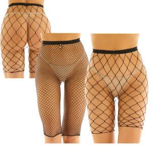 Sexy Women See Through Fishnet Mesh Legging Shorts Half Pants Stocking Nightwear