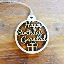 Grandad Happy Birthday Gift Tags - Free Post - Wooden Gift Tag