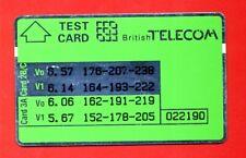 "UNITED KINGDOM: BTT-005 ""TEST CARD - Green"" New"