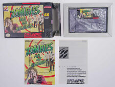 Zombies Ate My Neighbors SNES Super NES Complete CIB Box Cart Manual Konami 1994