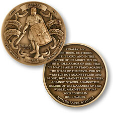 NEW Armor of God High Relief Ephesians 6:10-12 Challenge Coin. 60718.