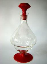 Art Déco Glas Karaffe Decanter Carafe Czech Art Glass Böhmen/Bohemia ca 1920/30