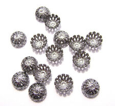 9513FX Bead Cap Cup Gunmetal plated Brass 8mm Filigree for 8 - 10mm Bead 100 Qty
