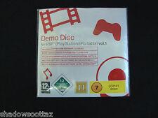 PSP  DEMO DISC VOL 1 INCLUDING PSP SYSTEM SOFTWARE UPDATE 2.0 VERSION
