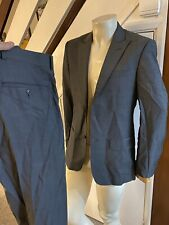 Mens French Connection Grey Suit - Jacket Size 36 Trousers 30 Mod / Skinhead