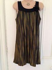 Gorgeous BNWT Secret dress sparkly two tone olive green black rose size 10