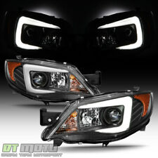 For Blk 2008-14 Subaru Impreza Wrx [Halogen Model] Led Drl Projector Headlights (Fits: Subaru)