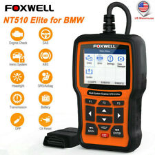 Foxwell NT510 Elite For BMW All System OBD2 Scanner ABS SRS Diagnostic Tool $149