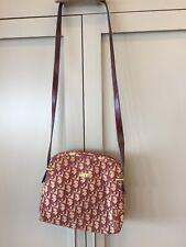 Vintage Christian Dior CD Burgundy Monogram Shoulder Bag