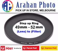Step Up Ring 49-52mm  49mm Lens to 52mm filter